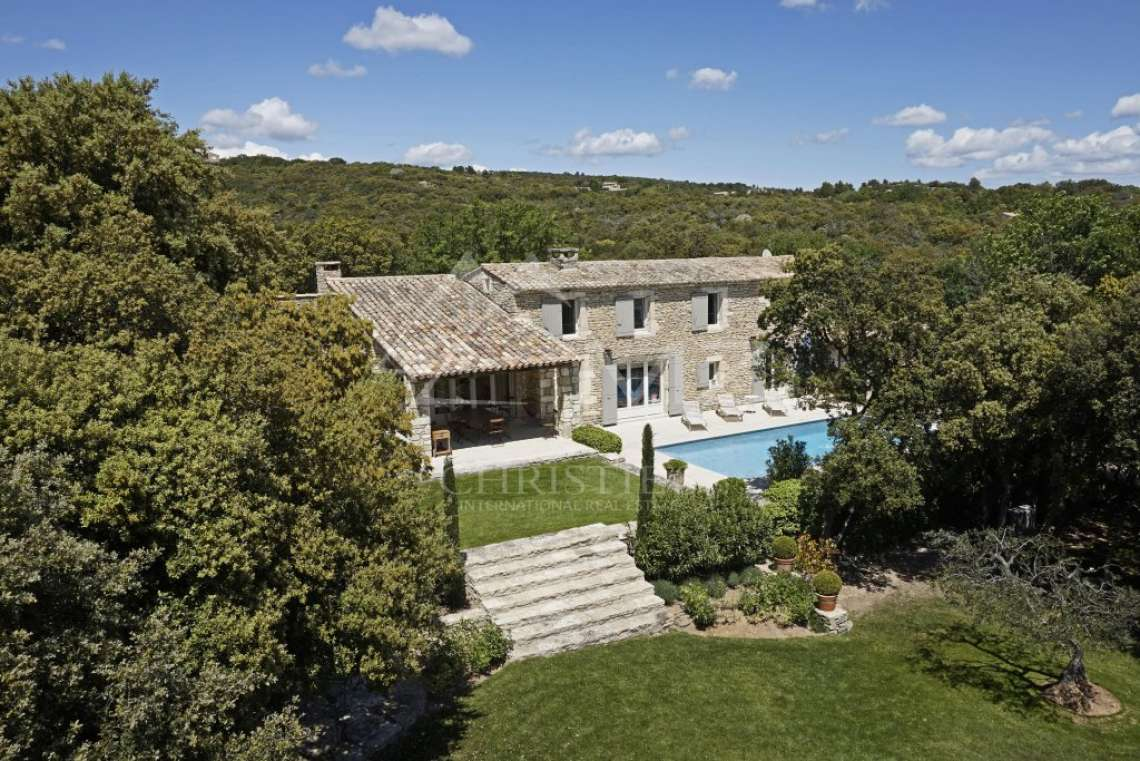 Gordes - Beautiful stone house with tennis court and heated pool - photo3