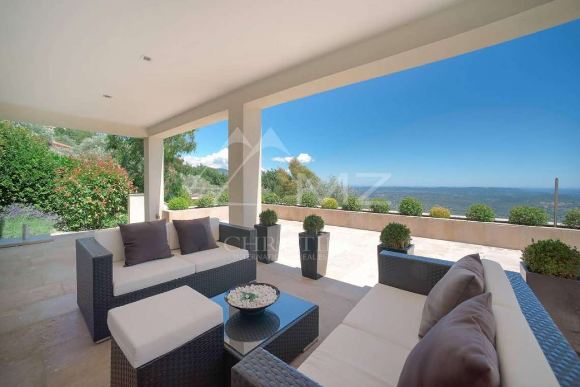 Cannes backcountry - Contemporary designer villa with panoramic sea view - photo13