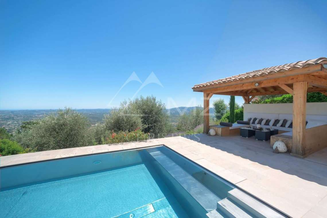 Cannes backcountry - Contemporary designer villa with panoramic sea view - photo3