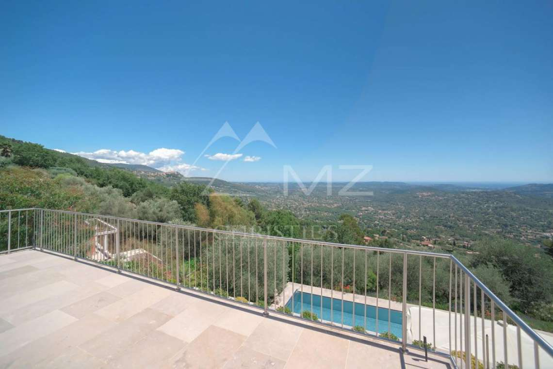 Cannes backcountry - Contemporary designer villa with panoramic sea view - photo10