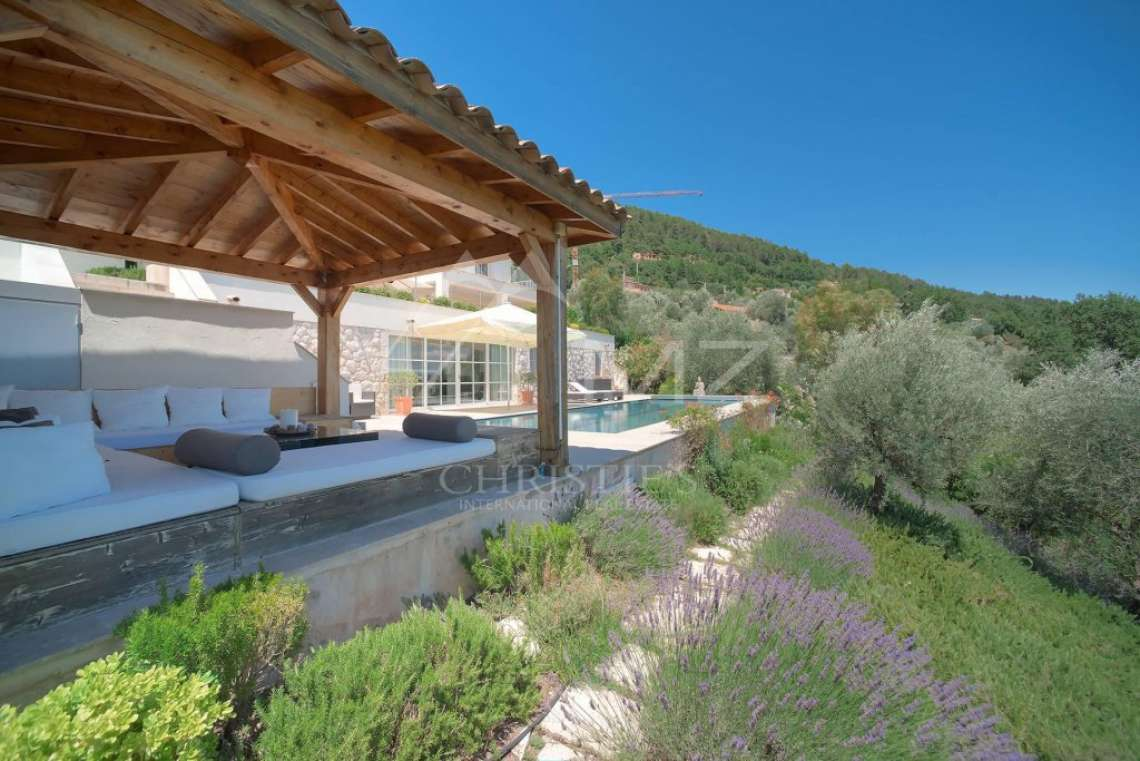 Cannes backcountry - Contemporary designer villa with panoramic sea view - photo11