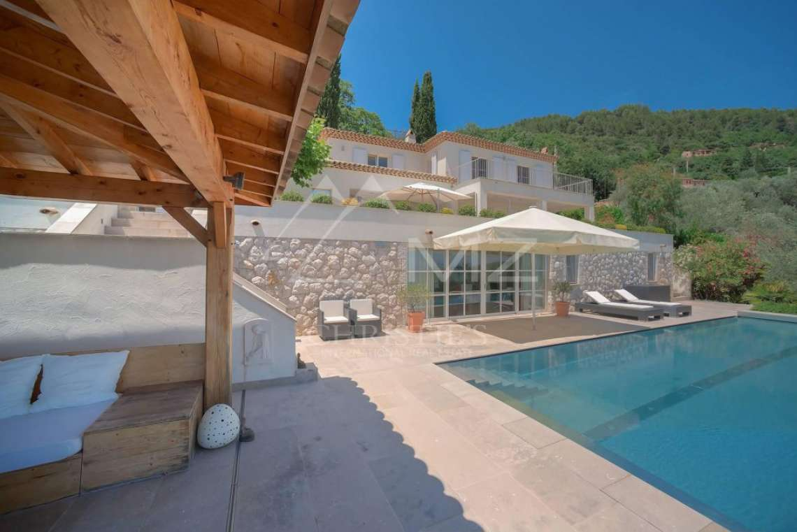 Cannes backcountry - Contemporary designer villa with panoramic sea view - photo4
