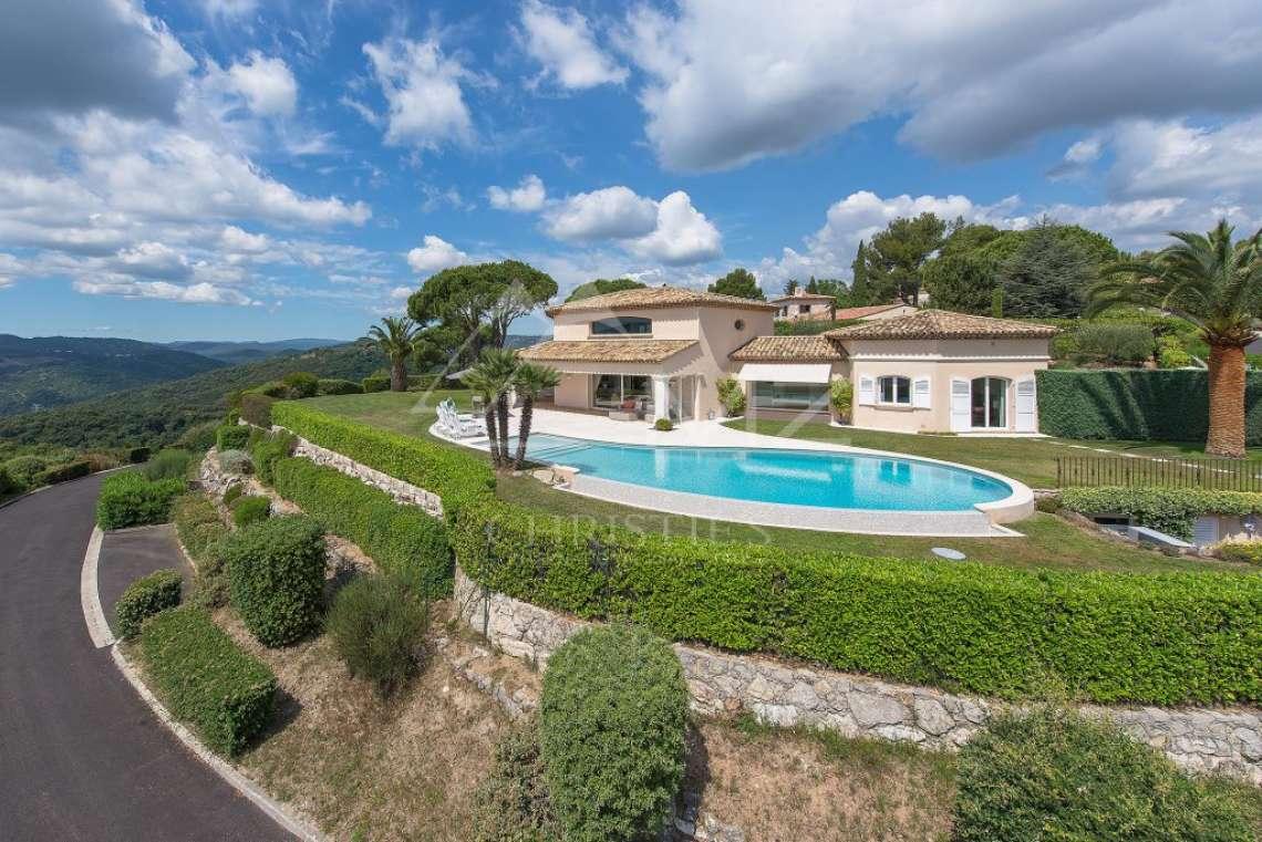 Arrière-pays cannois - Villa d'architecte avec vue panoramique - photo1