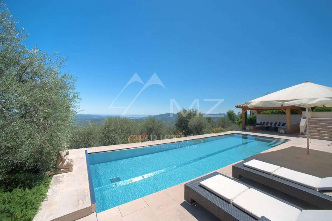 Cannes backcountry - Contemporary designer villa with panoramic sea view - photo5