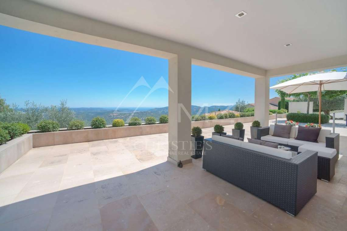 Cannes backcountry - Contemporary designer villa with panoramic sea view - photo12