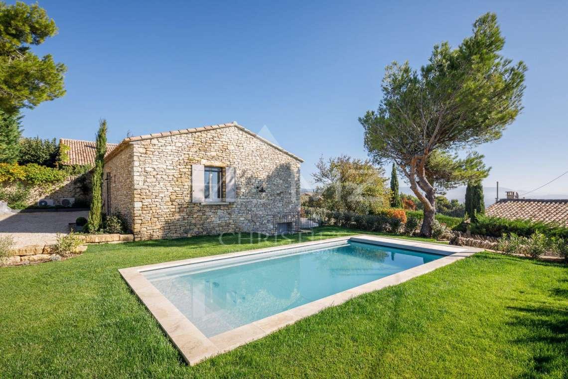 A louer gordes belle maison de village avec piscine - Location maison avec piscine luberon ...
