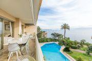 Cannes Palm Beach: Vue mer à couper le souffle - Charmant appartement d'angle 3-pièces dans résidence sécurisée avec gardien et piscine - photo1