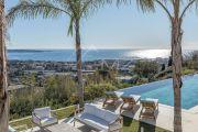 Proche Cannes - Golfe Juan - Villa contemporaine vue mer panoramique - photo2